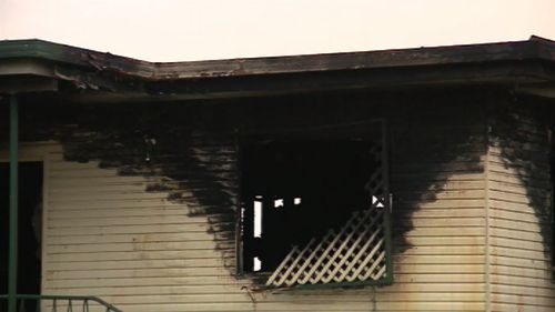 The blaze is believed to have started inside one of the home's bedrooms. (9NEWS)