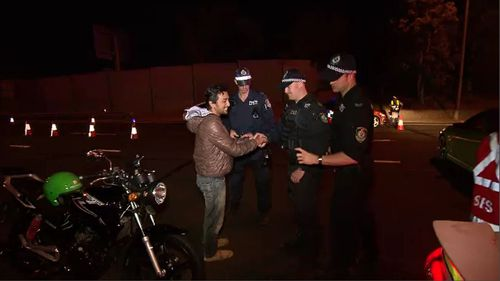 One man had a his allegedly stolen motorbike returned.