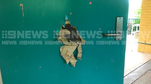 Darwin Ludmilla School axe break in damage
