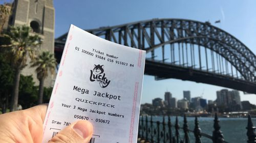 The man is the second-biggest individual lottery winner in Australian history, with a Sydney woman scoring an eye-watering $107.5 million Powerball prize in January this year.