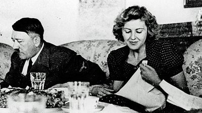 <p>Eva Braun</p> <p>The long-time partner of Adolf Hitler, the leader of Germany's Third Reich, met the future fuehrer at the age of 17. Despite attempting suicide twice in the early years of their relationship, Braun became a key figure within Hitler's social circle.</p> <p> She enjoyed just 40 hours married to the architect of World War II and arguably the most murderous dictator in history. In the early hours of April 29, 1945, she died after biting into a cyanide capsule as Russian troops were knocking on the door.</p>