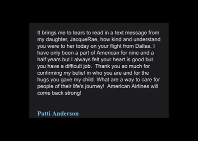 A screenshot captures a text from JacqueRae Hill's mother to Doug Parker after their encounter.