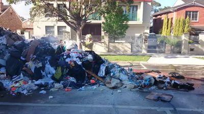 Rubbish dumped in Strathfield. (9NEWS)