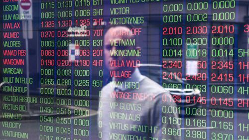 The ASX has opened lower as it anticipates interest rates remaining flat.