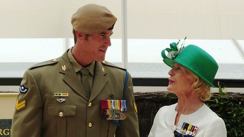 Dame Quentin Bryce awarded Ben Roberts-Smith with his Victoria Cross in 2011.