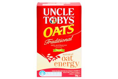 Uncle Tobys Traditional Oats: A fraction of a teaspoon of sugar