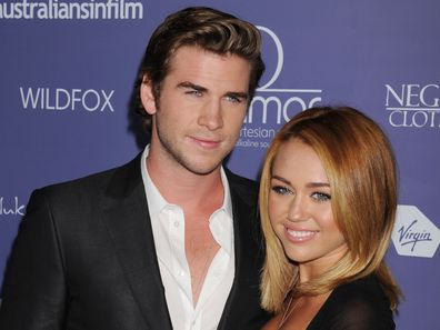Liam Hemsworth, Miley Cyrus, ring, engaged, red carpet