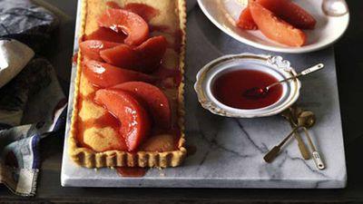 """Recipe:<a href=""""http://kitchen.nine.com.au/2016/05/17/10/33/quince-tart"""" target=""""_top"""">Quince tart</a>"""