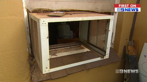 An air-con unit was also stolen from the property. (9NEWS)