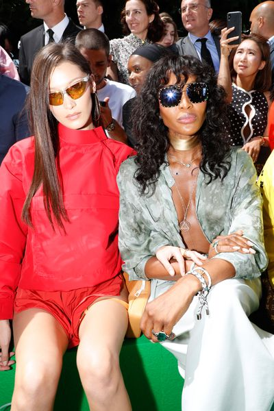 Bella Hadid and Naomi Campbell at Louis Vuitton Menswear Spring/Summer '19