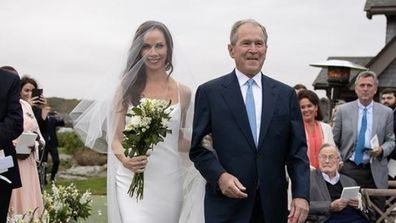 Barbara Bush's wedding