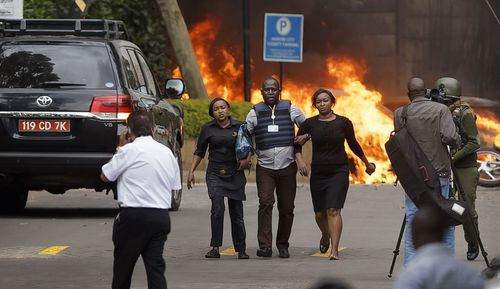 At least 21 people have been confirmed as killed in the Nairobi attack, which started with car bombs and was followed by at least four armed men who invaded the hotel and shops.