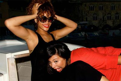 Rihanna shares pics of her vacation sailing around the coast of Italy.<br/>