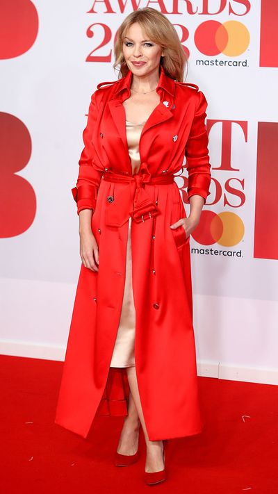 Kylie Minogue in Ralph & Russo at the 2018 Brit Awards