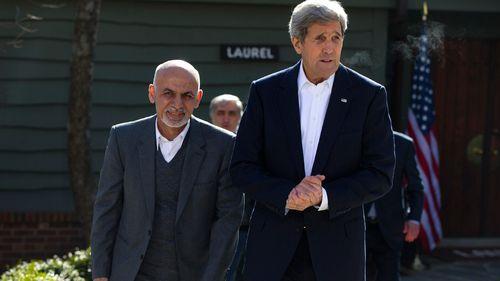 Afghan president thanks US troops during Washington visit