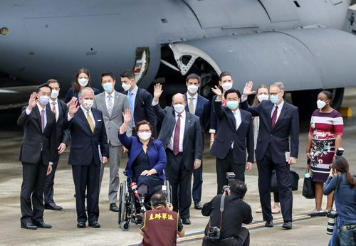 US senators took a military aircraft to Taiwan to announce vaccine donation. To Beijing, that is a major provocation