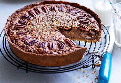 Pecan and maple pie