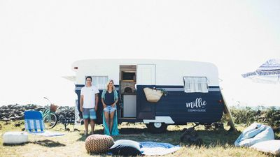 The Block's Michael and Carlene turn old caravan into road-tripping charmer