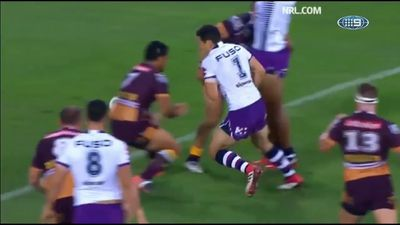Brad Fittler calls for drop-kick NRL rule change after Billy Slater awarded contentious try
