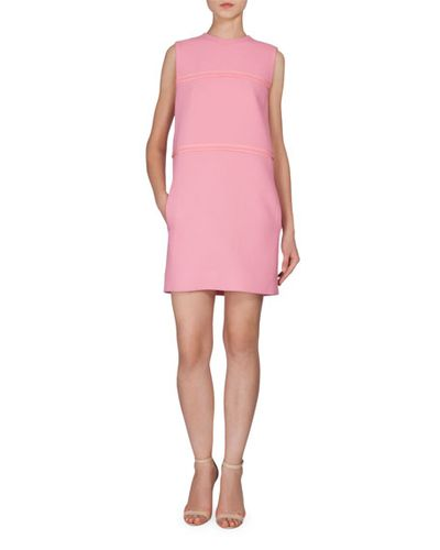 "Victoria by Victoria Beckham shift, $1090 at <a href=""http://www.neimanmarcus.com/en-au/Victoria-by-Victoria-Beckham-Sleeveless-Shift-Dress-W-Pockets-Pink/prod188690114_cat43810733__/p.prod?icid=&amp;searchType=EndecaDrivenCat&amp;rte=%252Fcategory.service%253FitemId%253Dcat43810733%2526pageSize%253D29%2526No%253D29%2526Ns%253DPCS_SORT%2526refinements%253D727%252C4294847200%252C4294847372%252C4294847473&amp;eItemId=prod188690114&amp;cmCat=product"" target=""_blank"">Neiman Marcus</a><br />"