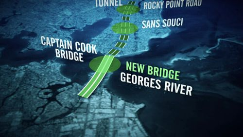 Section B involves a new bridge over the Georges River. (9NEWS)