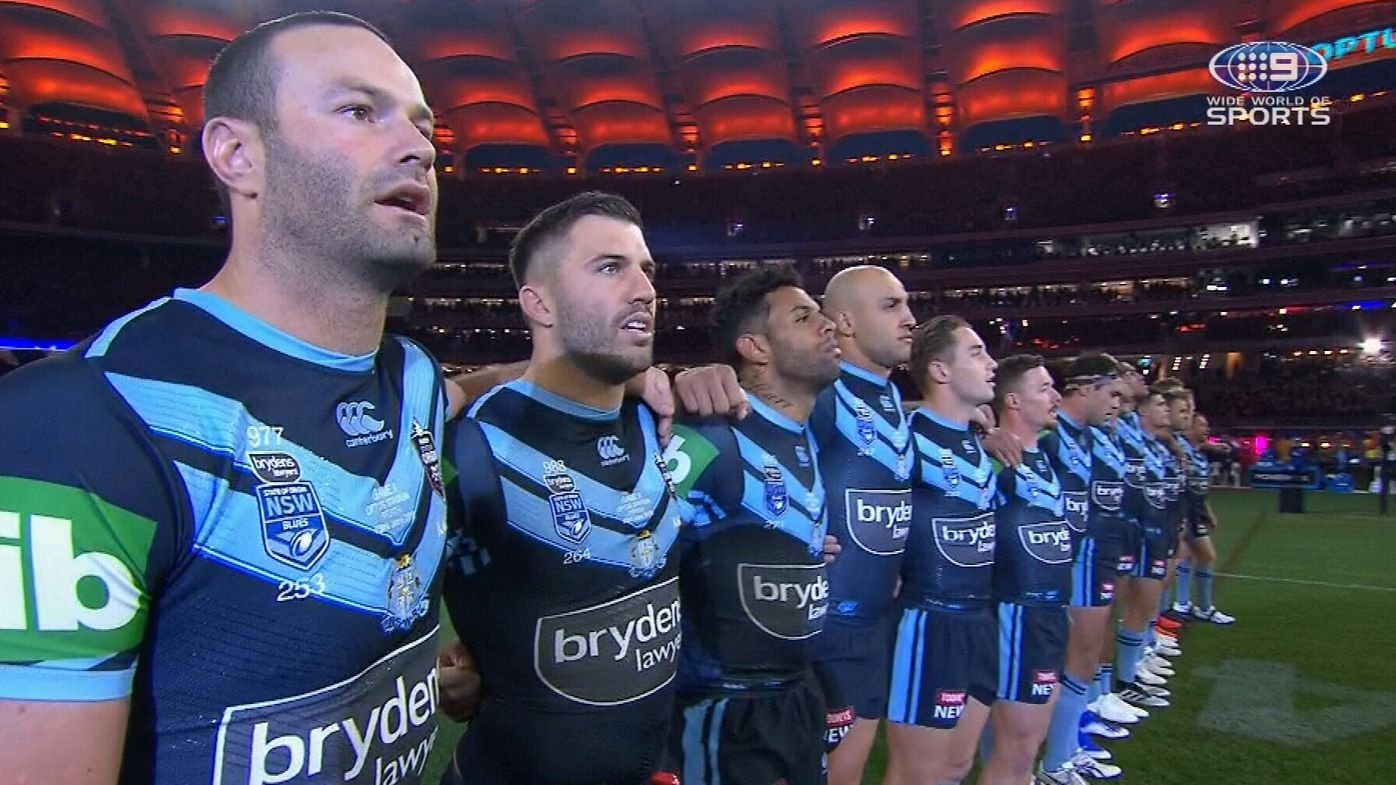 Indigenous State of Origin stars continue national anthem protest in Game Two