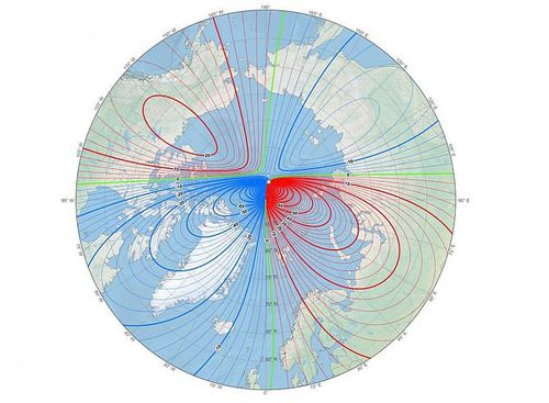Location of the magnetic North Pole