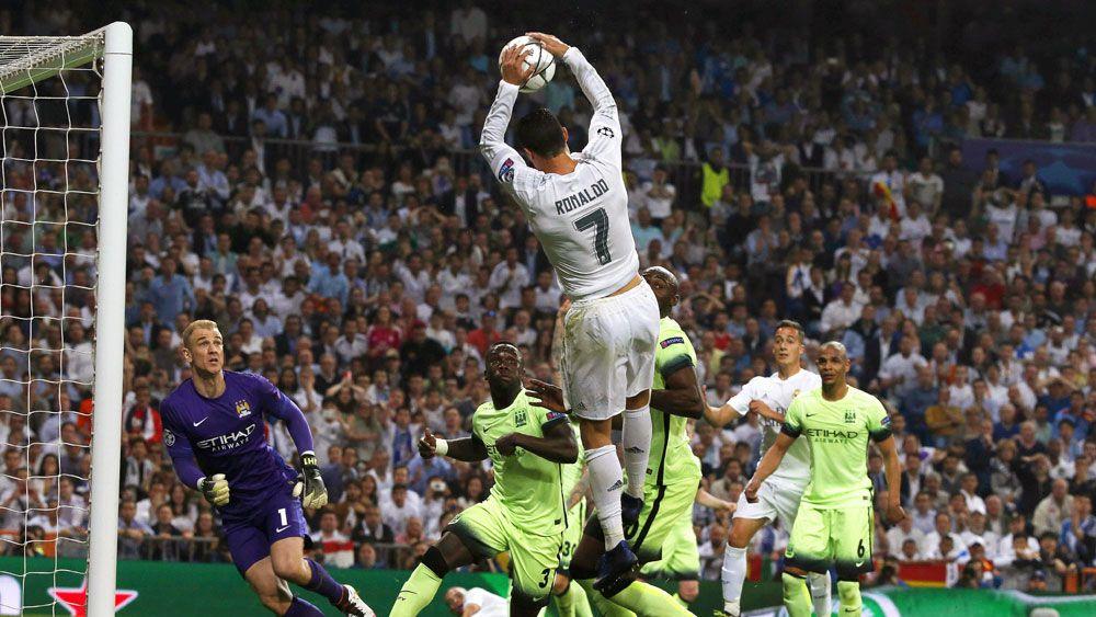 Ronaldo scores slam dunk goal like LeBron