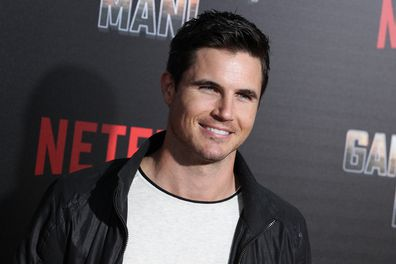 Robbie Amell attends the premiere of Game Over, Man in Hollywood