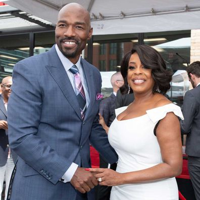 Jay Tucker and Niecy Nash pose for a photo as Niecy Nash is honoured with a Star On The Hollywood Walk Of Fame on July 11, 2018.