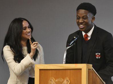 Meghan visits Robert Clack School for International Women's Day 2020