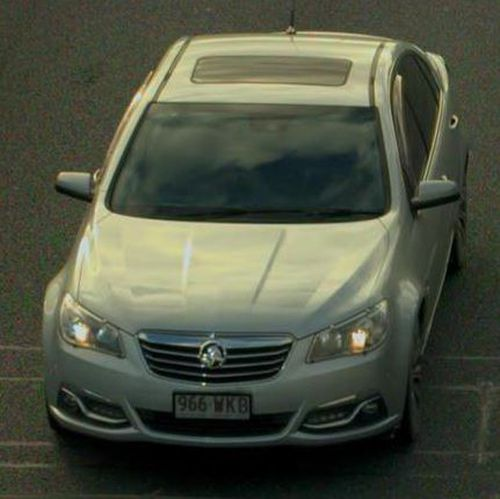 Police are now searching for the man driving this silver Holden Commodore.