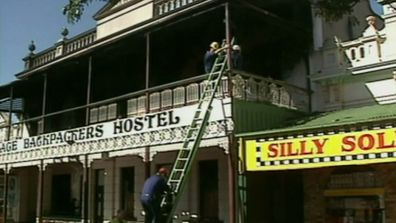 The backpackers hostel was restored after the fire.