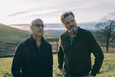 Stanley Tucci and Colin Firth in Supernova.
