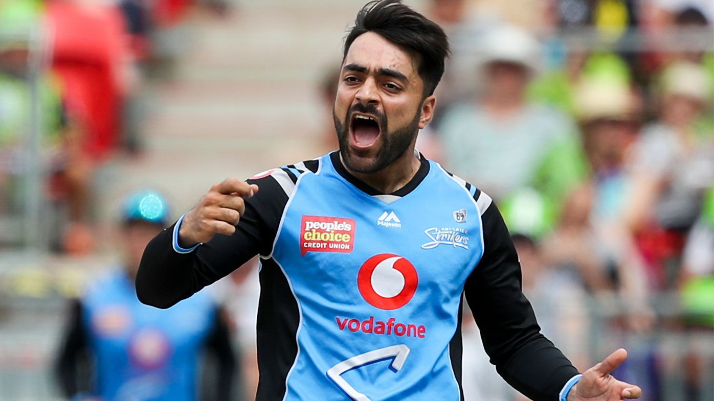 BBL star Rashid Khan makes Twenty20 cricket history for Afghanistan with double hat-trick