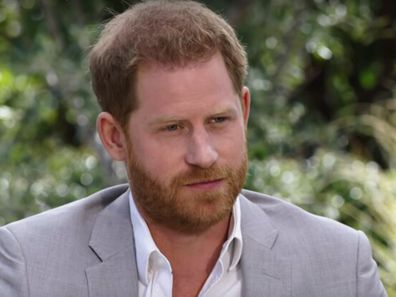 Prince Harry during his interview with Oprah