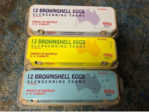 Eggs from the Glendenning Farm brand are being recalled amid reports of salmonella illness.