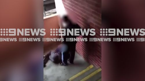 A 13-year-old girl was arrested and charged with assault offences at Bega police station. Source: 9News