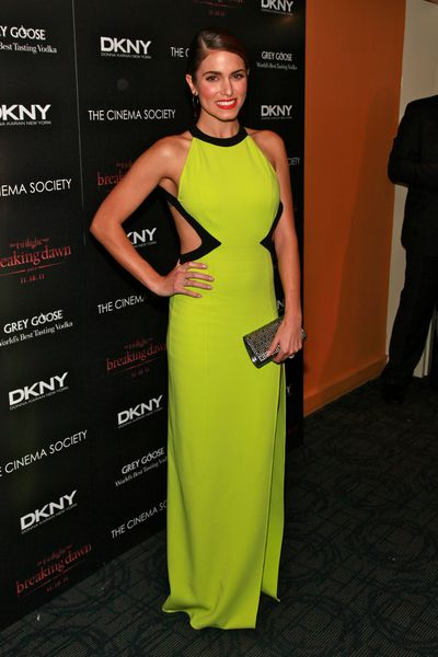 Actress Nikki Reed in DKNY at the DKNY screening of <em>The Twilight Saga: Breaking Dawn - Part 1</em> in New York, November, 2015