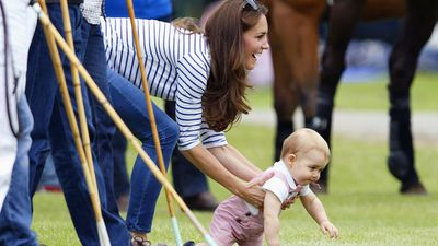 Royal pregnancies: The Duchess of Cambridge with Prince George
