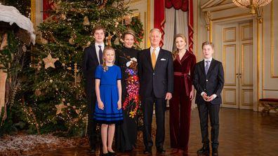 Belgian royal family Christmas photo