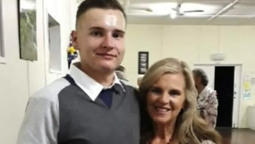 Kyle Sydenham (left) with his mother Dianne.