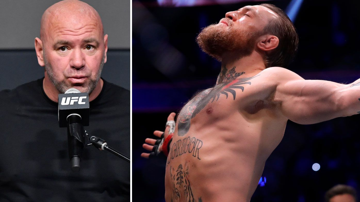 Dana White has opened up on mending his frayed relationship with Conor McGregor. (Getty)