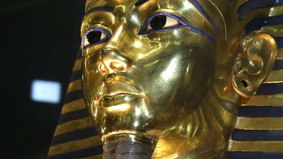 Tutankhamun, who was the pharaoh of Egypt more than 3000 years ago, furnished archaeology with some invaluable artefacts when his tomb was discovered in the early 20th century. However, even his gold burial mask was not safe when its braided beard was broken off during cleaning at the Egyptian Musuem in Cairo last August. It was hastily repaired with glue, but the visible damage to the mask sparked an inquiry from Museum authorities. (AAP)