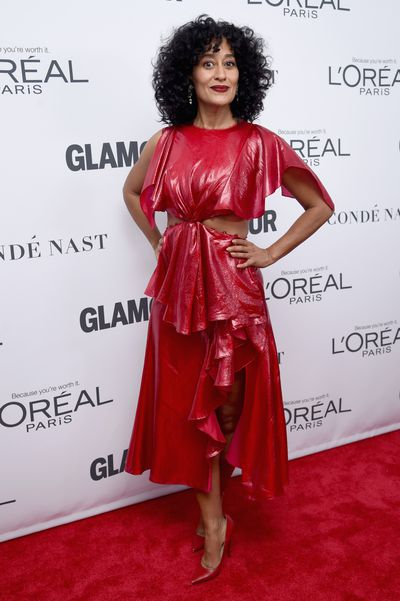 Tracee Ellis Ross in Prabal Gurung at the Glamour Women of the Year Awards, November 13.