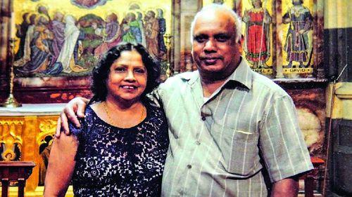 Ann Peiris' husband Priyantha Peiris (right) also died during the emergency.