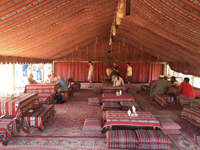 Desert luxury at the Bedouin camp.
