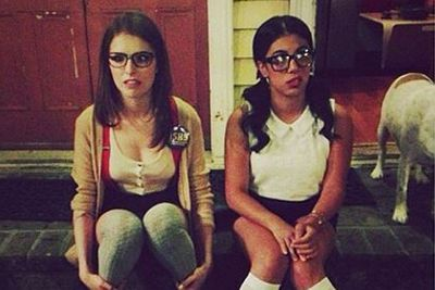 "@chrissiefit: ""Nerding out with @annakendrick47 👓 #backtoschool #pitchperfect2 #pp2 #bellas"""