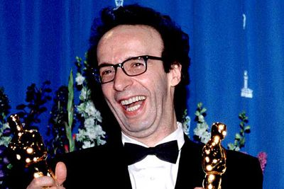 "<B>The Oscar:</B> Best Actor for <I>Life is Beautiful</I>, at the 71st Academy Awards (1999).<br/><br/><B>The speech:</B> You know someone is really, really happy when they spring out of their seat, walk atop several chairs and hop right on stage to accept their award. The audience loved it, though the people sitting in those chairs might not have been quite as thrilled.<br/><br/><B>Best bit:</B> ""This is a moment of joy, and I want to kiss everybody!"""