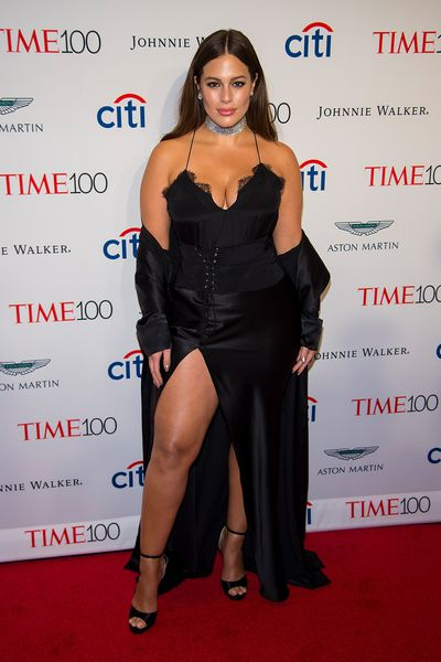 Another lingerie-inspired red carpet ensemble on Ashley Graham.